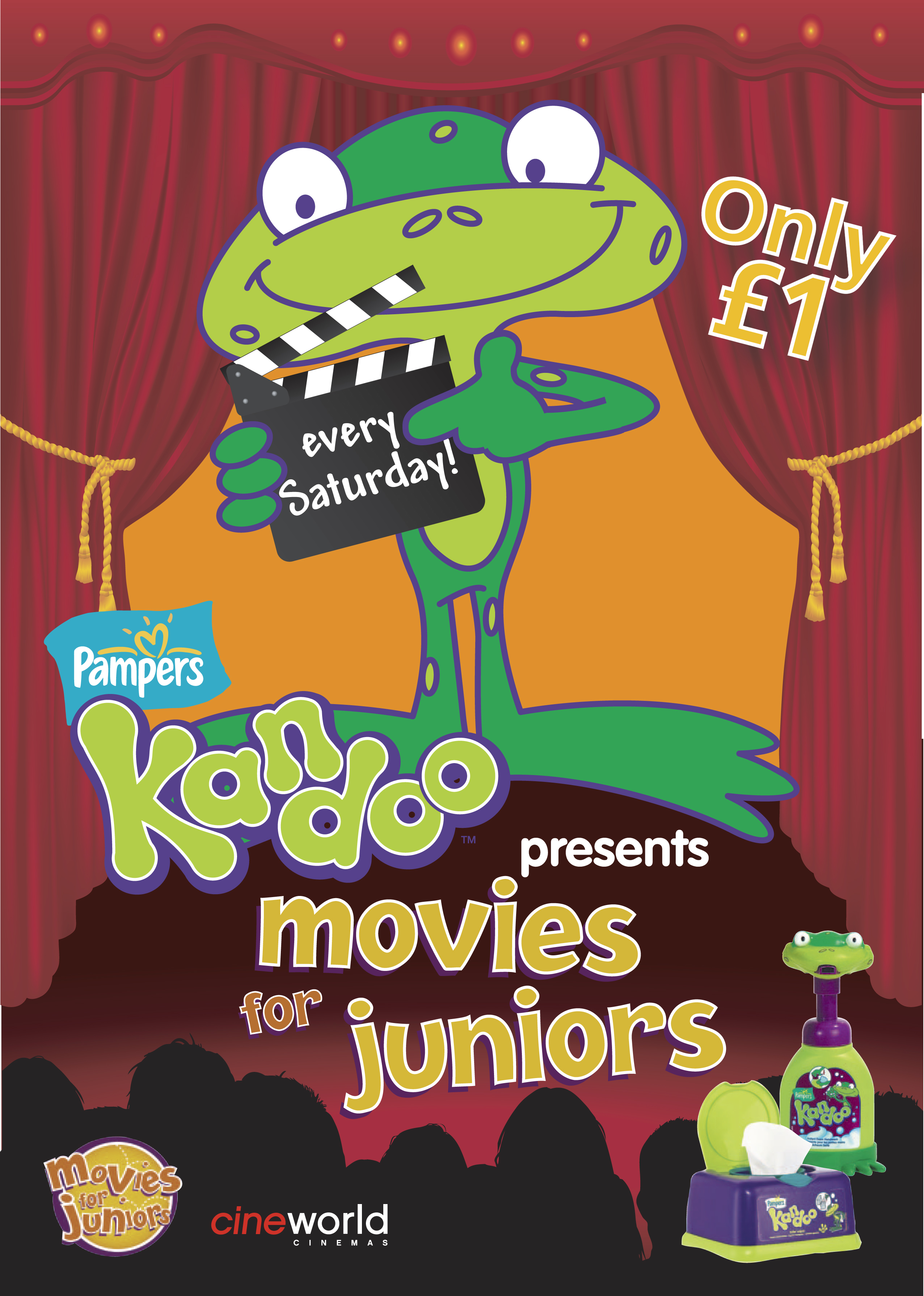 pampers kandoo sponsors movies for juniors at cineworld
