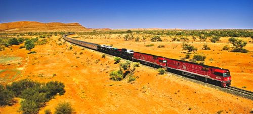 Cross continental train in Australia