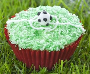football pitch cupcakes